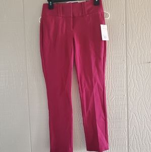 Candies Marilyn fit ankle mid rise dark pink pants